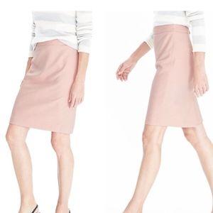 NWOT BANANA REPUBLIC Light Pink Herringbone Skirt